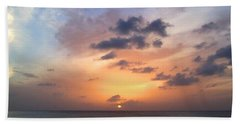 Tiki Beach Caribbean Sunset Bath Towel