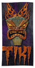 Tiki Bath Towel by WB Johnston