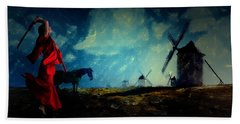 Tilting At Windmills Bath Towel