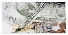 Time Is Money Concept Bath Towel
