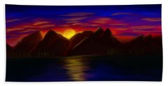 Bath Towel featuring the painting Time To Sleep  by Sotiris Filippou