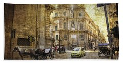 Time Traveling In Palermo - Sicily Hand Towel by Madeline Ellis