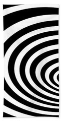 Time Tunnel Op Art Bath Towel by Methune Hively