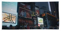 Times Square At Night Bath Towel