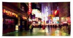 Times Square New York - Nanking Restaurant Bath Towel