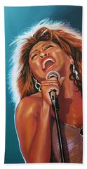 Tina Turner 3 Hand Towel by Paul Meijering