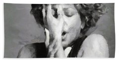 Tina Turner - Emotion Hand Towel by Paulette B Wright
