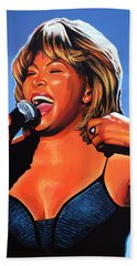 Tina Turner Queen Of Rock Hand Towel by Paul Meijering