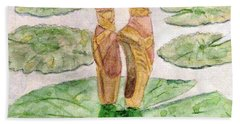 Hand Towel featuring the painting To Dance by Angela Davies