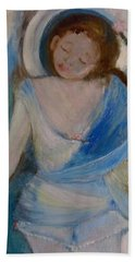 Bath Towel featuring the painting To The Beach by Laurie L