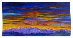Tobacco Root Mountains Sunset Bath Towel