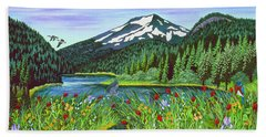 Todd Lake Mt. Bachelor Hand Towel