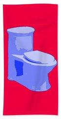 Toilette In Blue Bath Towel