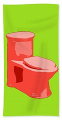 Toilette In Red Bath Towel