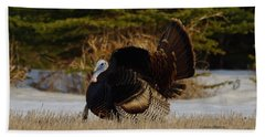 Hand Towel featuring the photograph Tom Turkey by Steven Clipperton