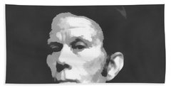 Tom Waits Charcoal Poster Hand Towel