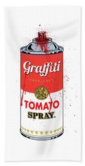 Tomato Spray Can Bath Towel