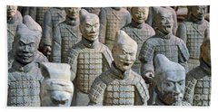 Hand Towel featuring the photograph Tomb Warriors by Robert Meanor