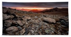 Hand Towel featuring the photograph Tombstone Sunrise by Steven Reed