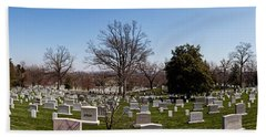 Tombstones In A Cemetery, Arlington Hand Towel