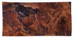 Topography Of Rust Hand Towel by Rona Black