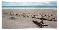 Topsail Island Driftwood Hand Towel by Shane Holsclaw