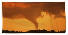 Tornado Sunset 11 X 14 Crop Hand Towel