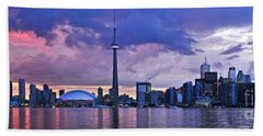 Toronto Skyline Bath Towel by Elena Elisseeva