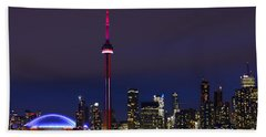 Toronto Skyline Bath Towel by Tony Beck