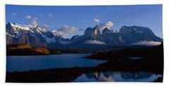 Torres Del Paine, Patagonia, Chile Bath Towel