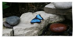 Touch Of Blue Hand Towel by Judy Whitton