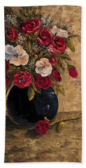 Hand Towel featuring the painting Touch Of Elegance by Darice Machel McGuire