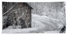 Touched By Snow Hand Towel by Joan Carroll