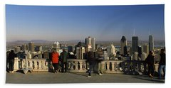 Tourists At An Observation Point Bath Towel