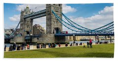 Tower Bridge Hand Towel by Matt Malloy