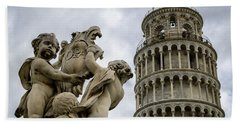 Tower Of Pisa Bath Towel