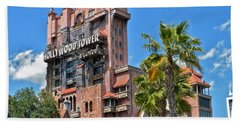 Tower Of Terror Hand Towel by Thomas Woolworth