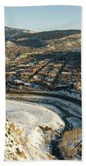 Town Of Durango In Winter, Colorado Bath Towel