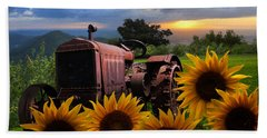 Tractor Heaven Bath Towel by Debra and Dave Vanderlaan