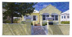 Hand Towel featuring the photograph Traditional Bermuda Home by Verena Matthew