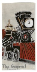 Train - The General -painted Hand Towel