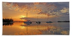 Tranquility Bay - Florida Sunrise Hand Towel by HH Photography of Florida