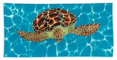 Caribbean Sea Turtle Hand Towel