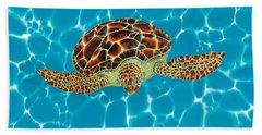 Caribbean Sea Turtle Bath Towel
