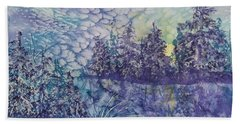 Bath Towel featuring the painting Tranquility by Ellen Levinson