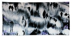 Hand Towel featuring the painting Dancing In The Rain Abstract Contemporary Painting by Michelle Joseph-Long