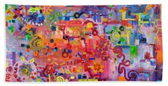 Transition To Chaos Bath Towel by Regina Valluzzi