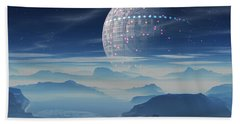 Tranus Alien Planet With Satellite Bath Towel
