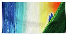 Bath Towel featuring the painting Travelers Rainbow Waterfall Detail by First Star Art