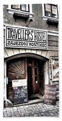 Bath Towel featuring the photograph Travellers Hostel - Cesky Krumlov by Juergen Weiss